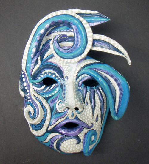 Blue Harlequin Mask