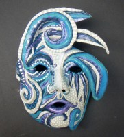 Blue Harlequin Mask