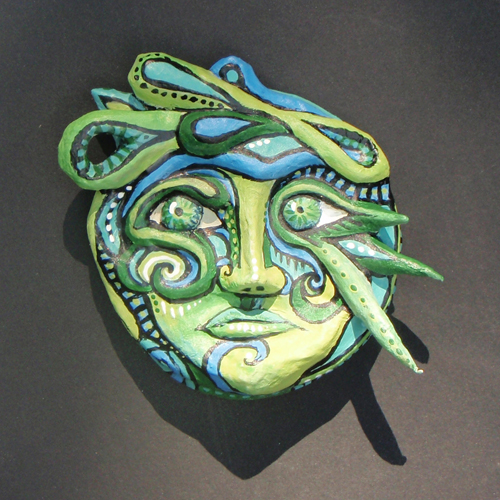 Small Green Mask