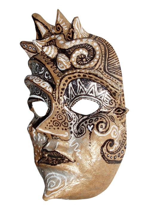 Brown Swirly Mask