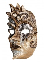 Brown Swirly Mask