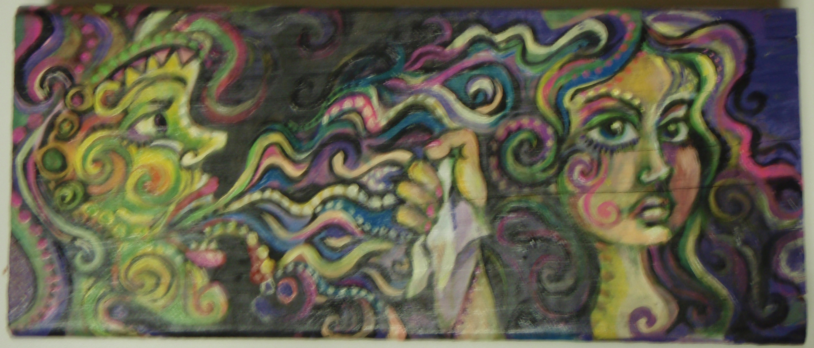 Contagious, Acrylic on Wood, 2009